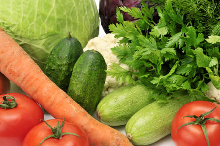 vegetables isolated on a white Stock Photo - 7287111