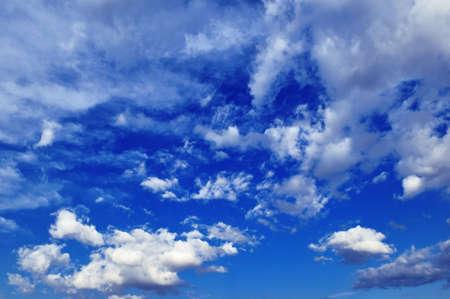 nimbi: blue sky and beautiful white clouds