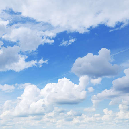 cumulus: white clouds in the blue sky