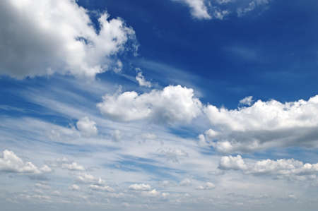 nebulosity: clouds in the blue sky                                     Stock Photo