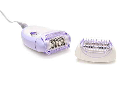 underarms: epilator isolated on a white                                    Stock Photo