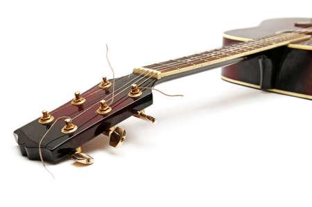 hardrock: guitar isolated on white                                  Stock Photo
