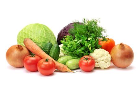 verduras aislados en un blanco