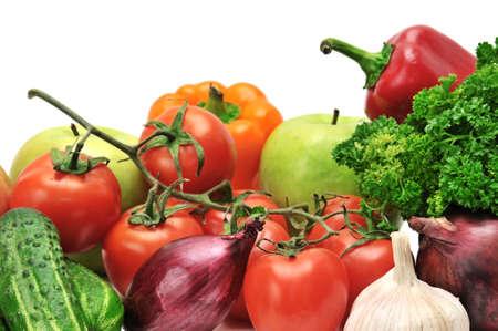 an onions: frutas y verduras aislados en blanco  Foto de archivo