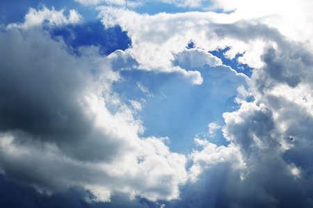 nimbi: cloud in  blue sky
