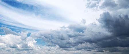 rainclouds: blue sky