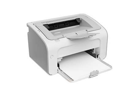 typer: laser printer isolated on a white background                                Stock Photo