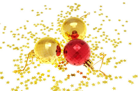 Christmas-tree decorations isolated on a white background Stock Photo - 8162695