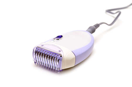 epilator isolated on a white                                     photo