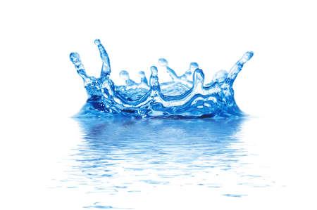 agua de bienvenida aislado en un fondo blanco