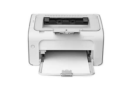 impresora: impresora l�ser aislado en un fondo blanco  Foto de archivo