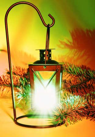Lantern. Christmas decoration photo