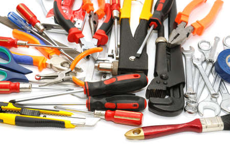 tools on a white background                                     Stock Photo - 8638632