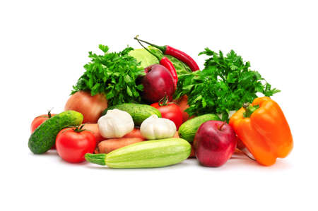 vegetables isolated on a white background Stock Photo - 8768078