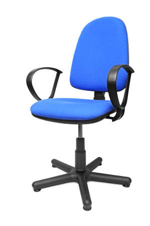 office chair isolated on a white                                     photo