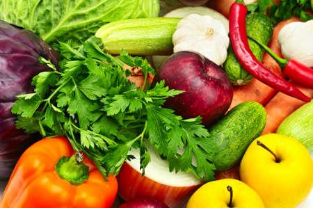 groenten en fruit                                     Stockfoto