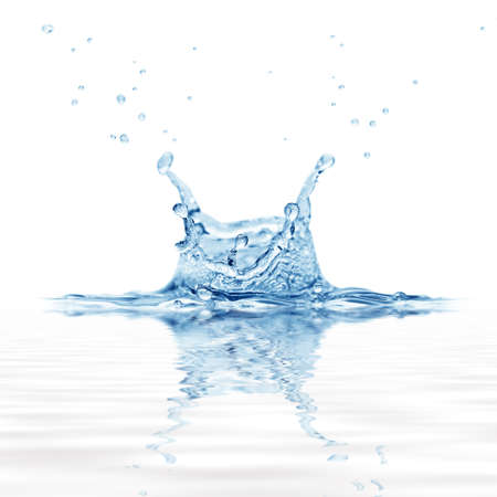 splash water isolated on a white background                                     photo