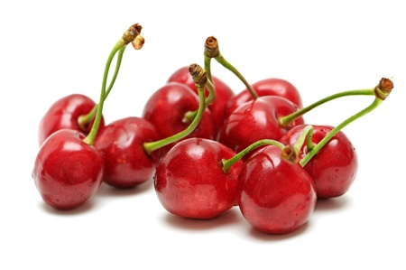 sweet cherries isolated on a white background Stock Photo - 8796739