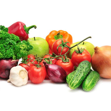 fruits and vegetables isolated on a white Stock Photo - 8796741