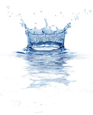 agua de bienvenida aislado en un fondo blanco Foto de archivo