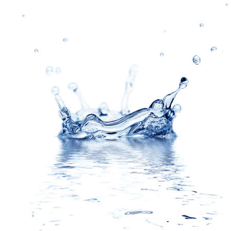 splash water isolated on a white background Stock Photo - 9287415