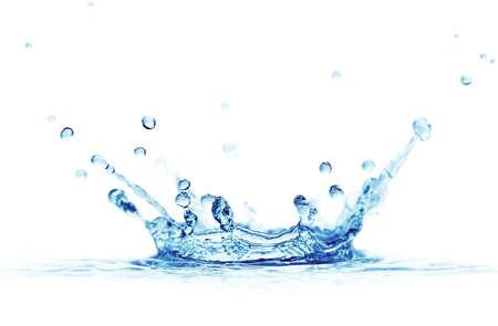 gota de agua: agua de bienvenida aislado en un fondo blanco                                     Foto de archivo