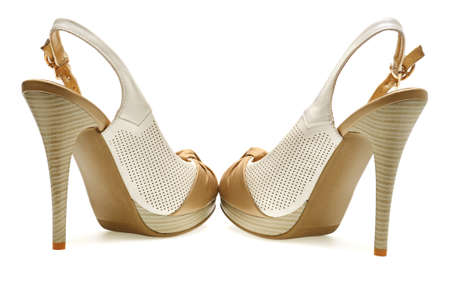woman shoes isolated on a white background                                   photo