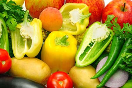 tiendas de comida: frutas y verduras                                     Foto de archivo