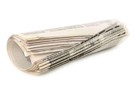 informait: journaux isol�es sur un fond blanc                                     Banque d'images
