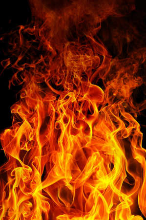 fire on a black background Stock Photo - 10294368