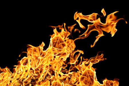 fire on a black background Stock Photo
