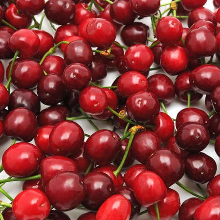 sweet cherries background                                     photo