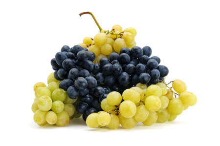 bunch of grapes: grapes isolated on a white background                                     Stock Photo