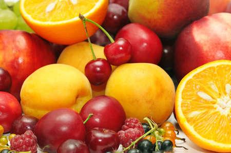 fruitage: fruits on a white background