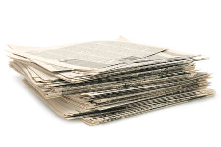 newspapers isolated on a white background Stock Photo - 10757875