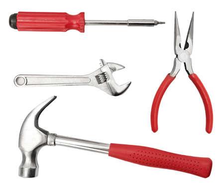 set tool isolated on a white background                                     Zdjęcie Seryjne
