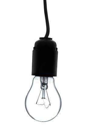 bulb: Gl�hbirne auf einem wei�en Hintergrund. Lizenzfreie Bilder
