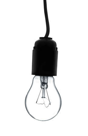 lit image: Light bulb isolated on a white background.