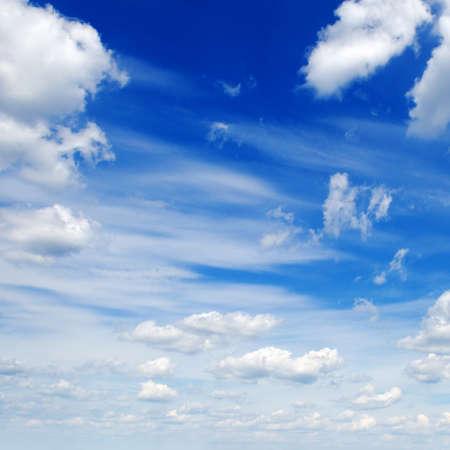 nimbi: clouds in the blue sky                                     Stock Photo