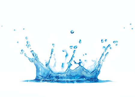 splashing: splash water isolated on a white background