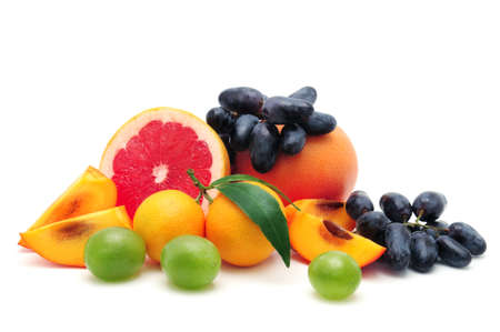 collection fruit isolated on a white background                                    photo