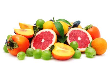 set fruit isolated on a white background Stock Photo - 12067681