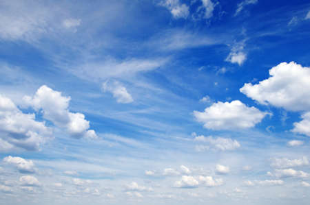 fluffy clouds in the blue sky                                     Stock Photo - 12067707