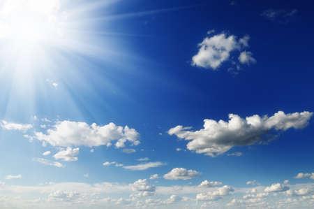 sun on blue sky Stock Photo - 12067683