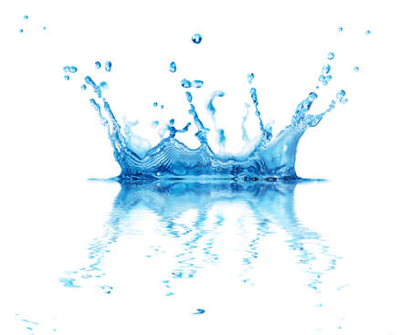 splash water isolated on a white background Stock Photo - 12210551