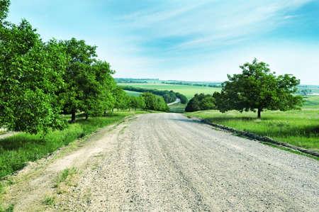 国の道路 写真素材 - 12210672