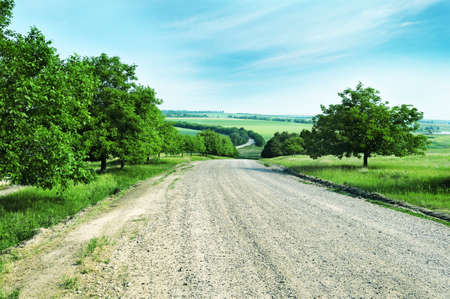 afield: country road