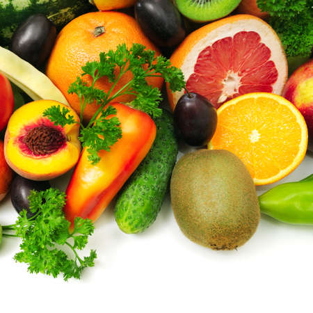 fruit and vegetables: fruits and vegetables  Stock Photo