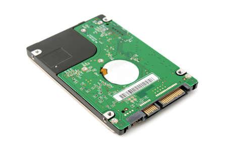 harddisk: hard disk isolated on a white background                                     Stock Photo