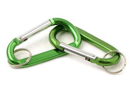 key ring isolated on white background                                     photo